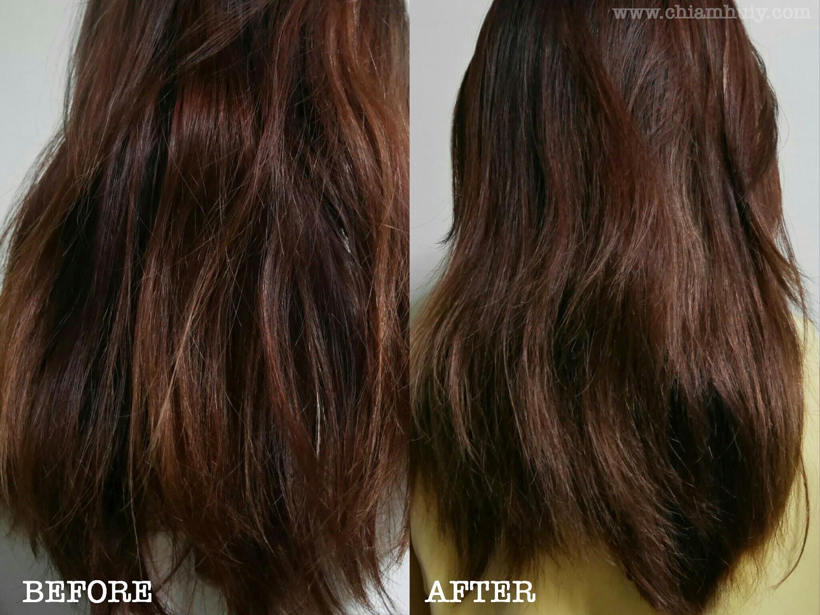 Blue dark ombre hair photo
