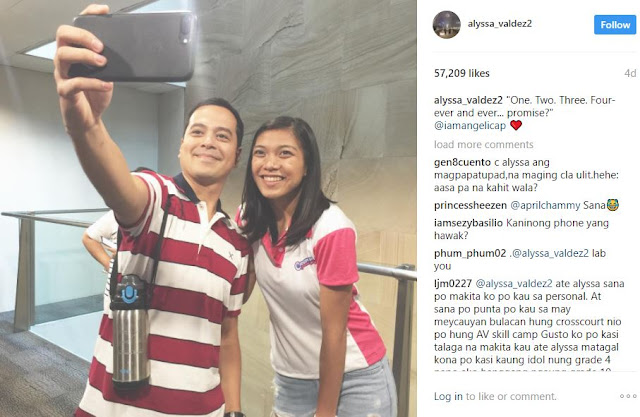 """Promise mo muna sakin tuparin mo."" Angelica Panganiban Drove Netizens Wild With Her Comment on John Lloyd Cruz's Selfie With Alyssa Valdez!"