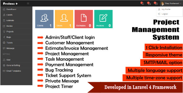 Download Free CodeCanyon - FreeLance Plus Project Management