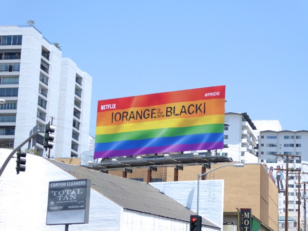 Orange is the New Black season 4 pride flag billboard