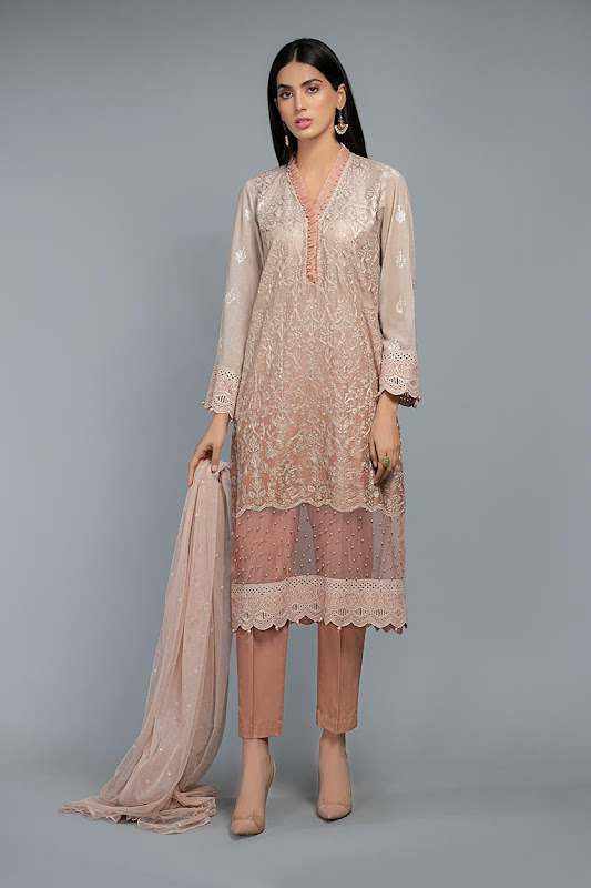 Maria B Tea Pink suit lawn summer collection