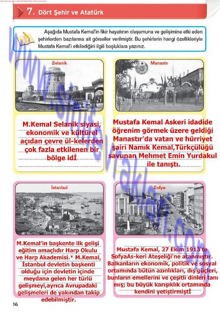 8. Sınıf İnkılap Tarihi Top Yayınları Çalışma Kitabı Cevapları Sayfa 16