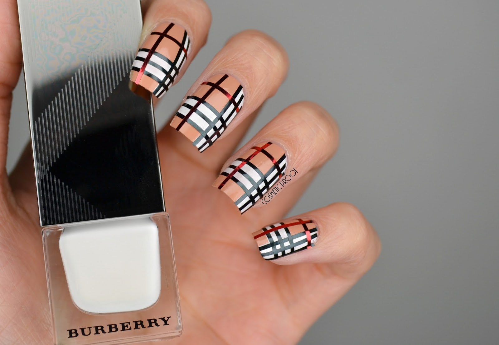 Nails striping tape burberry nail art cbbnov cosmetic proof burberry nail art prinsesfo Choice Image