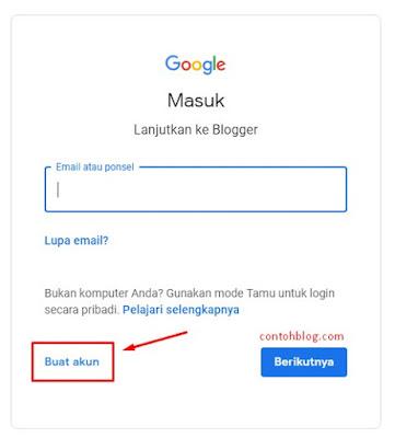 buat akun Google baru