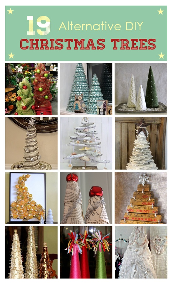 19 Alternative DIY Christmas Trees, by Miriam Illions, curated from HomeTalk, featured on Funky Junk Interiors