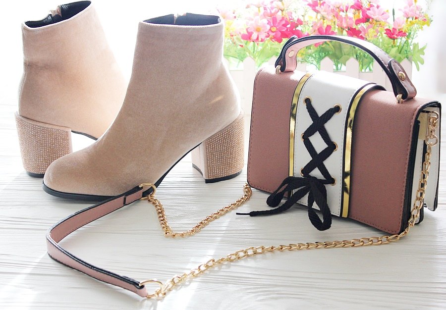 ROSEGAL Haul: Rhinestone Ankle Boots and  Lace Up Crossbody Bag. Unboxing. Ботинки, сумочка и платье / обзор, отзывы, фото