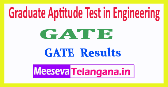 GATE GOAPS Graduate Aptitude Test in Engineering 2018 Results And Rank Card Download