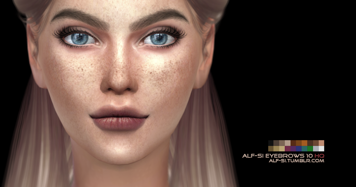 My Sims 4 Blog Eyebrows In 20 Colors For Females By AlfSi
