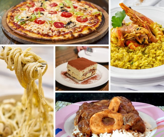 comida típica itália