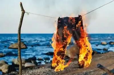 حرق الملابس في المنام لابن سيرين