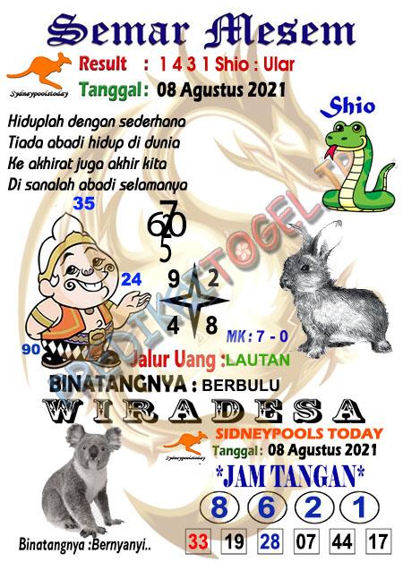 Syair Semar Mesem SDY Minggu 08-Agt-2021