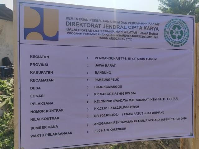 Satgas Citarum Sektor 21 Awasi Pembangunan TPS 3R di Wilayah Kab Bandung dan Sumedang
