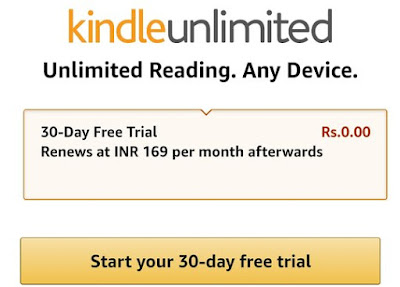 Amazon kindle Unlimited Subscription Trial