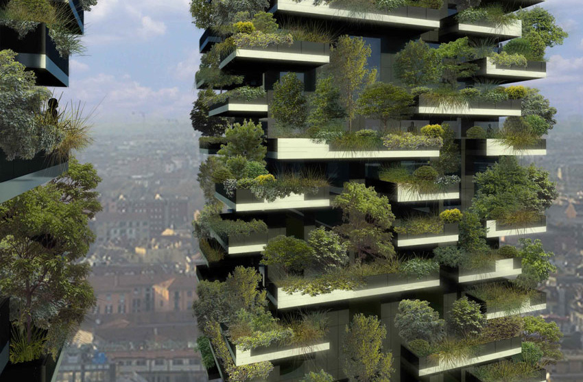 Vertical Forest Apartments Weight To Buildings
