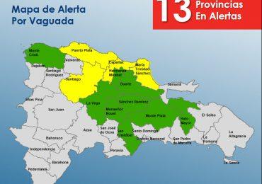 COE mantiene alerta en 13 provincias  por posibles crecidas de ríos, arroyos y cañadas
