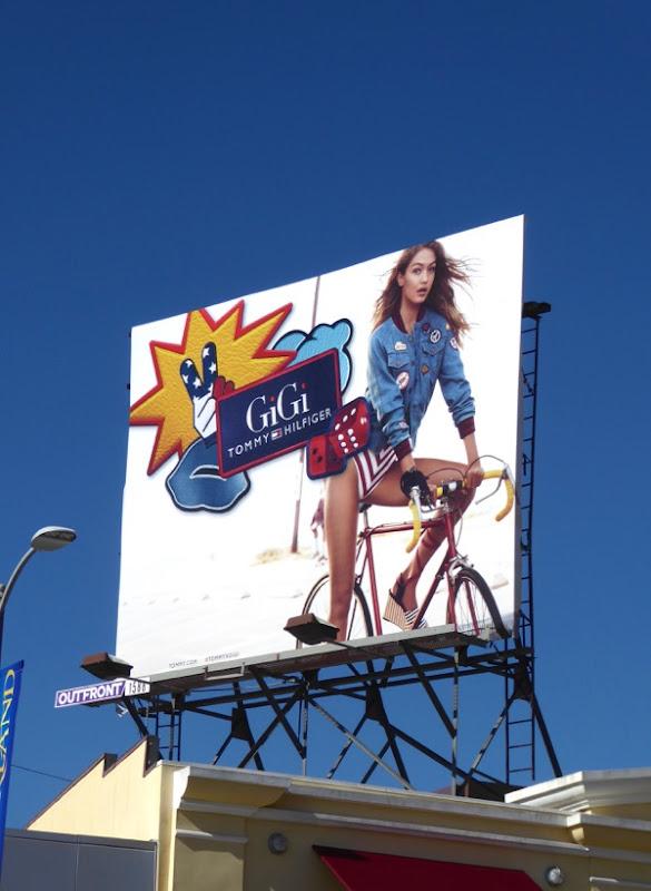 GiGi Hadid Tommy Hilfiger Spring 2017 billboard