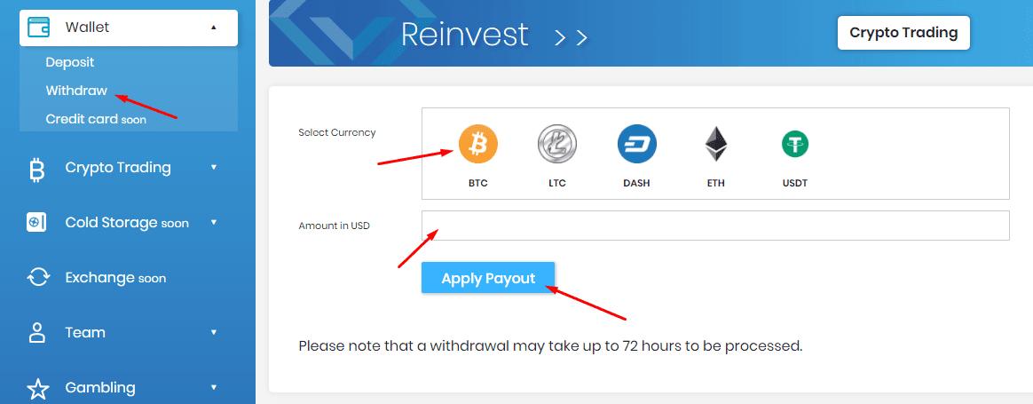 Регистрация в CryptoLux 4