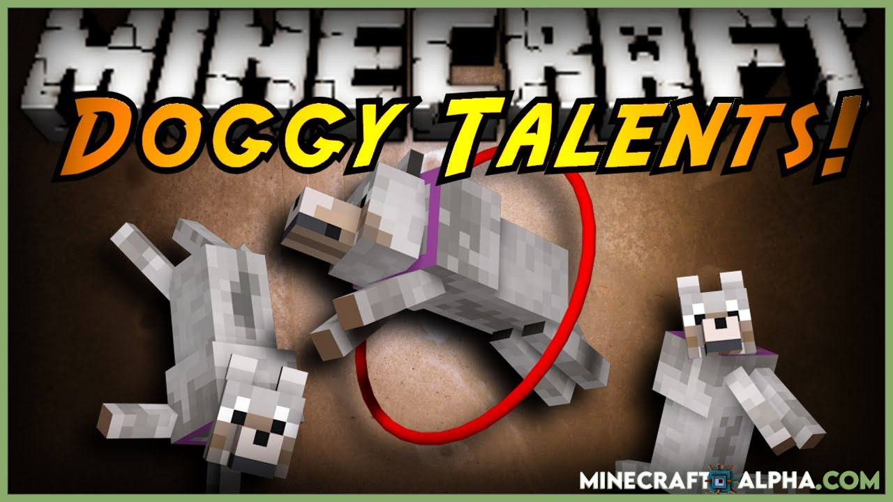 Doggy Talents Mod For 1.17.1 to 1.16.5 (New Pet Doggy Training)
