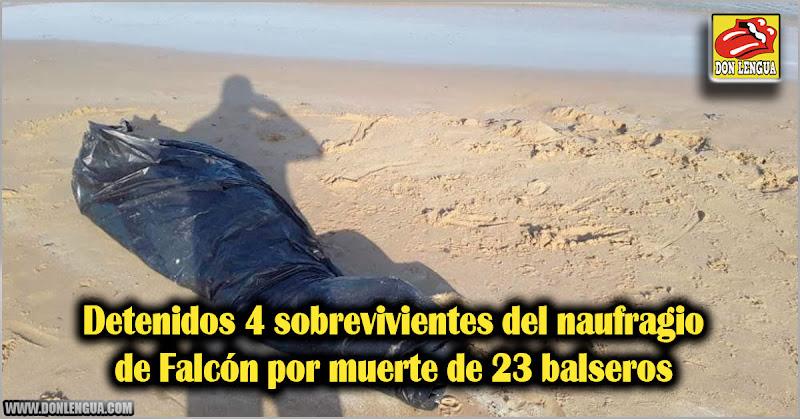 Detenidos 4 sobrevivientes del naufragio de Falcón por muerte de 23 balseros