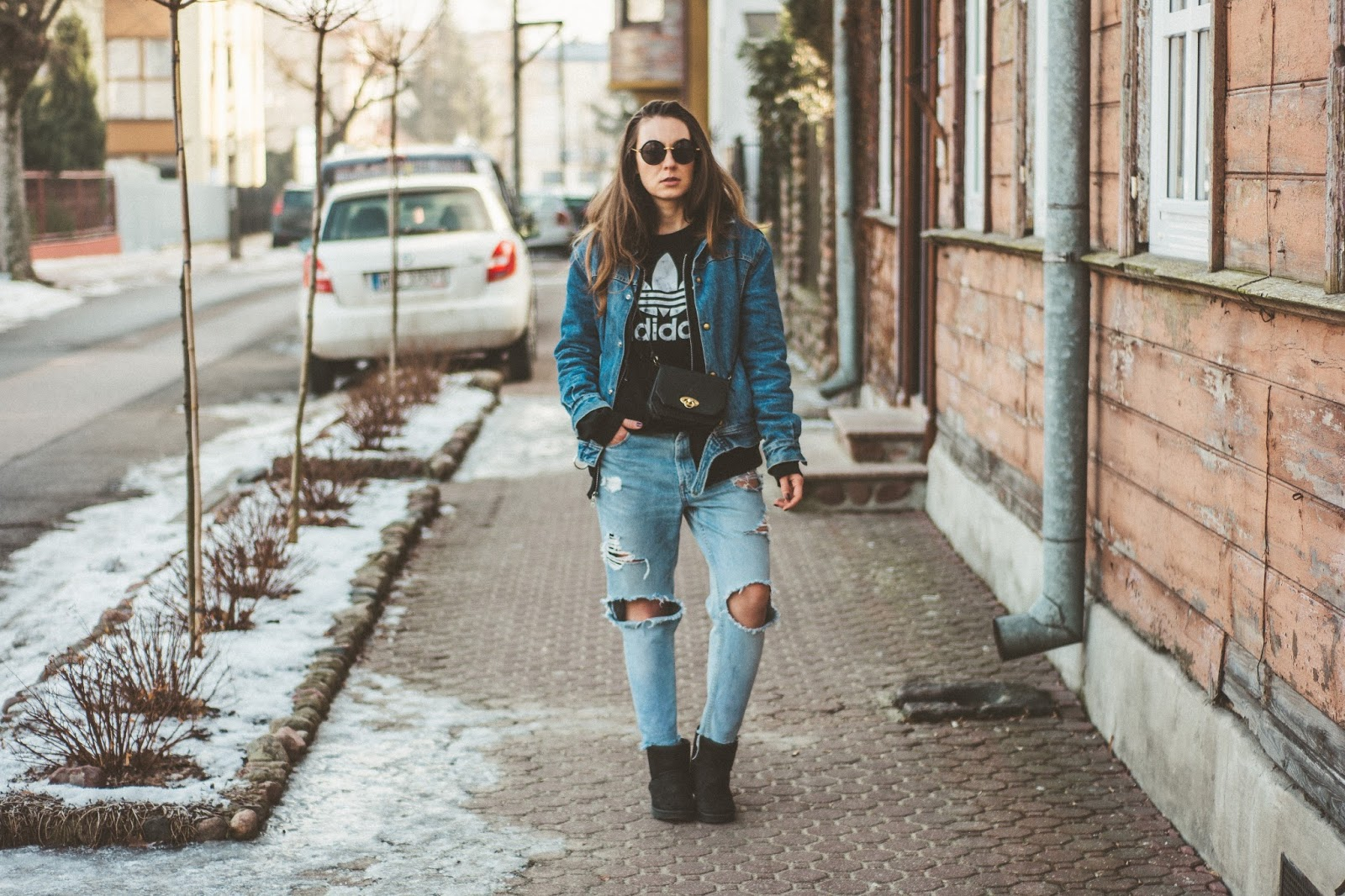 vintage denim look
