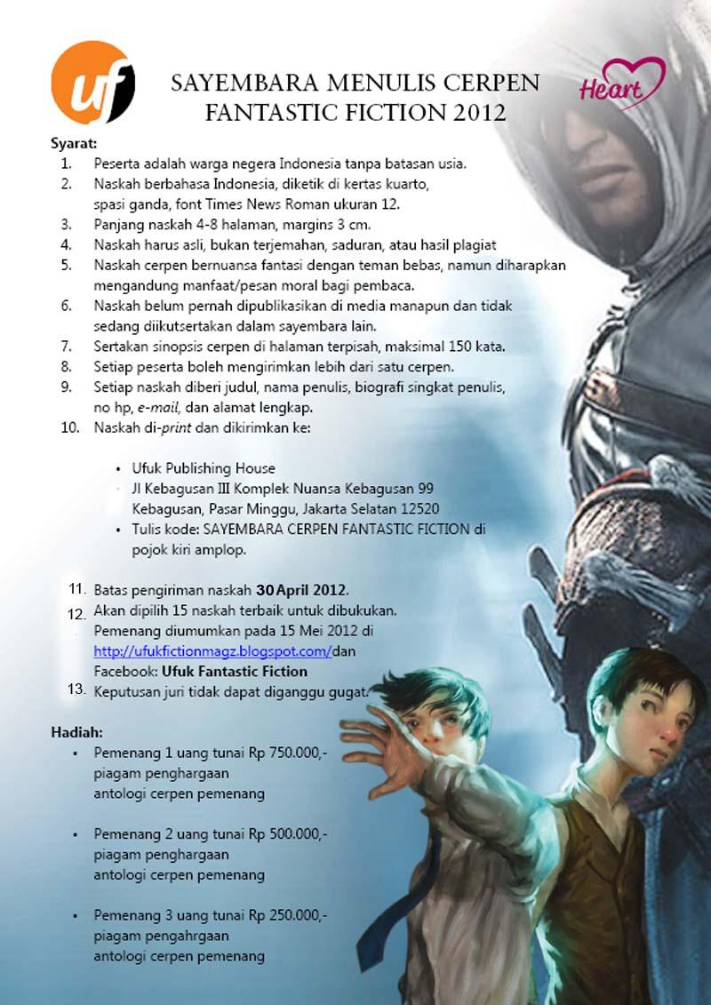 Fantasy Worlds Indonesia Sayembara Menulis Cerpen Fiksi Fantasi