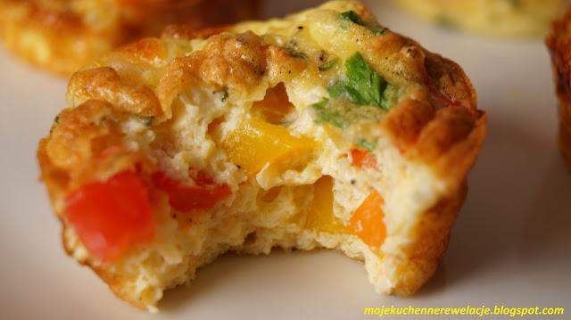 muffiny z szynką i serem