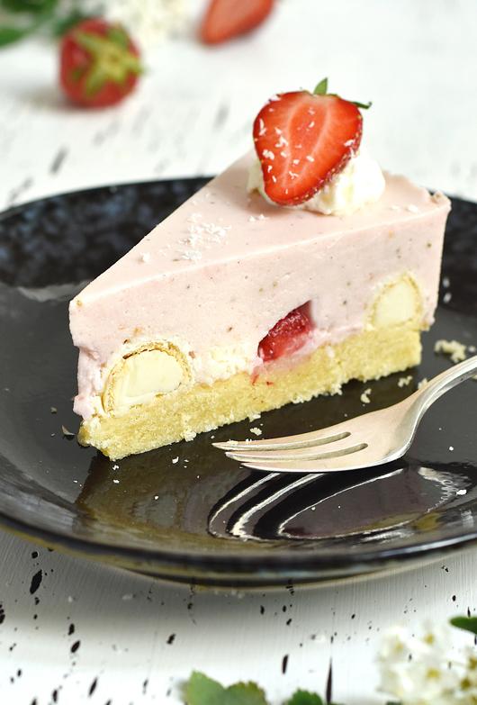 Raffaello-Erdbeer-Kuchen Foodblog Rezept
