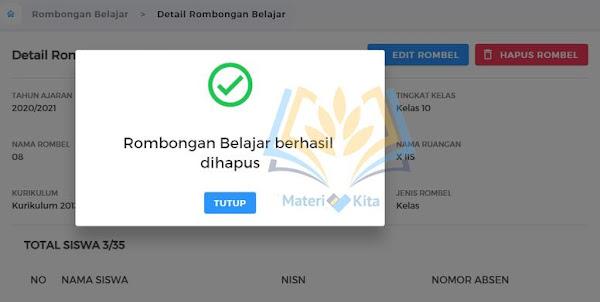 Hapus Rombongan Belajar EMIS 4.0