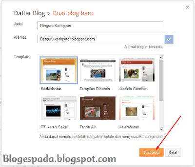 Cara membuat Blog Gratis (Blogspot) di Blogger6
