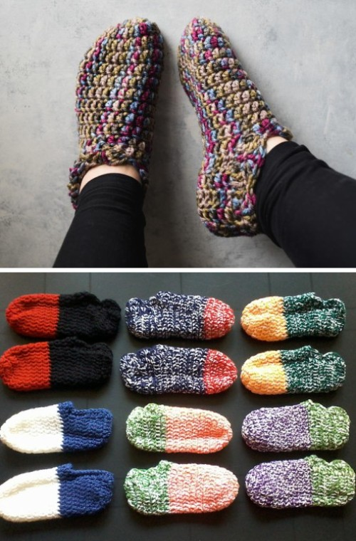 One Hour Slippers - Free Pattern