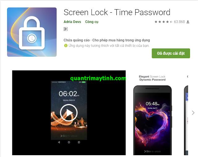 Cách tạo mật khẩu tự động thay đổi theo thời gian trên SmartPhone Android