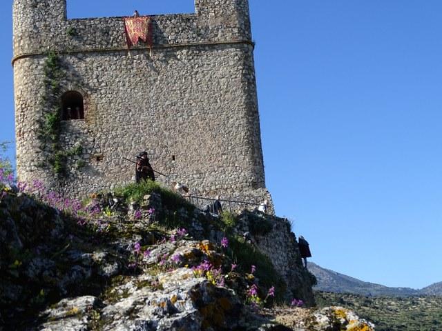 Toma de Zahara, asedio Castillo moros y cristianos