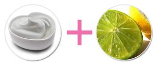 มะนาว + โยเกิร์ตรักษาสิว