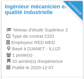 Employeur : RED MED in aminas - DJANET - ILLIZI