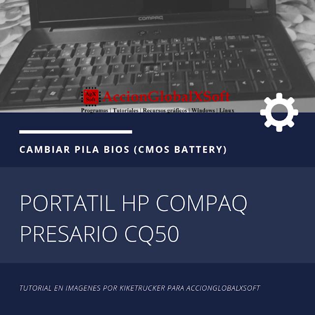 Cambiar pila BIOS de portátil HP Compaq Presario CQ50