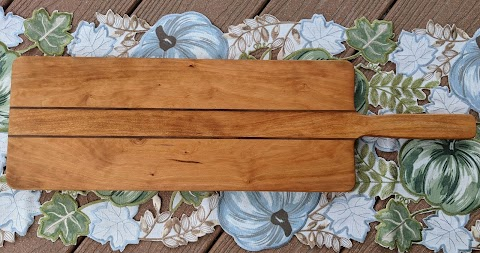 Sold - Large cherry and walnut cutting/serving board