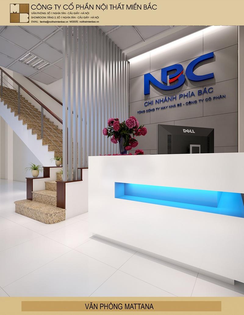 Thiết kế trọn gói nội thất văn phòng với tone màu sắc hài hòa