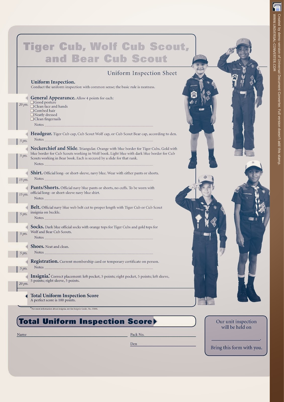Cub Scouts Pack September