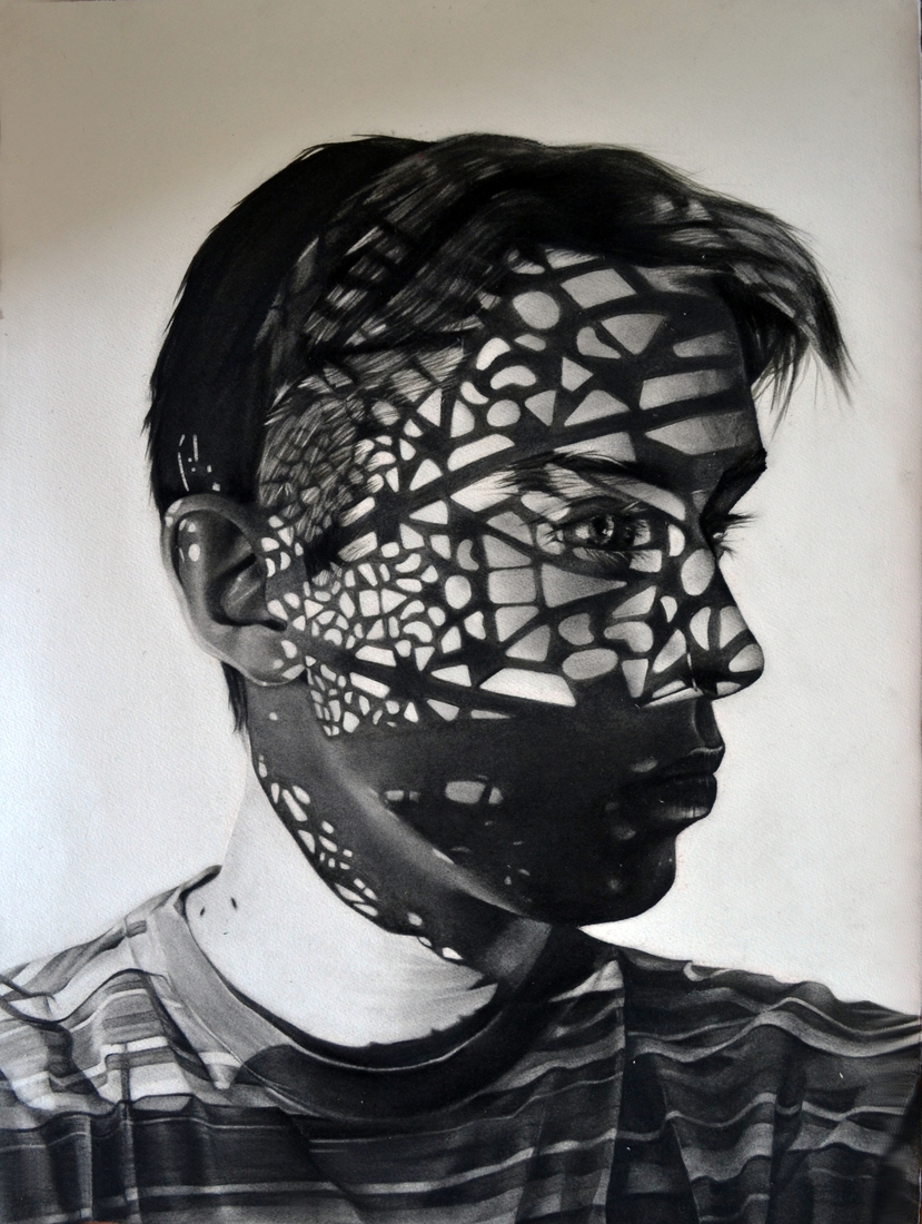 01-Dylan-Andrew-Shadows-and-Textures-Interacting-with-Charcoal-Drawings-www-designstack-co