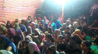 बाबा रामदेव सेवा समिति के द्वारा रुणीजा जाने वाले यात्रियों के लिए ठहरने व भोजन की व्यवस्था के पंडाल लगाए