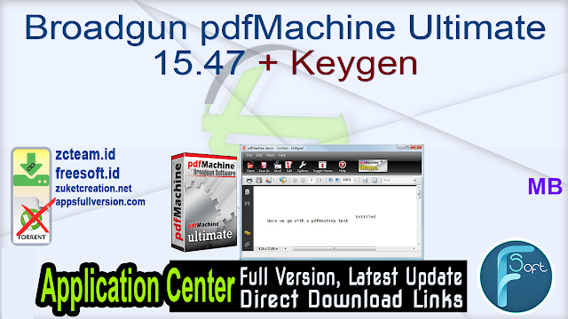 Broadgun pdfMachine Ultimate 15.47 + Keygen_ ZcTeam.id