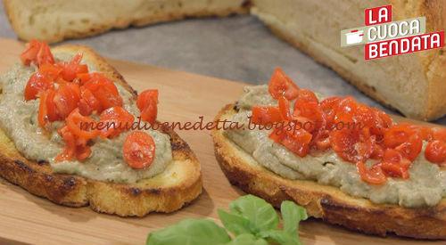 La Cuoca Bendata - Bruschette con caviale di melanzane ricetta Parodi