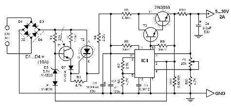 power-supply-with-dissipation-limiter-circuit-diagram