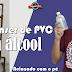 Dispenser Para Álcool em Gel Feito de Cano PVC (Acionado com o pé)