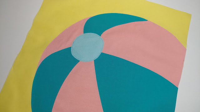 Beach ball quilt block pattern