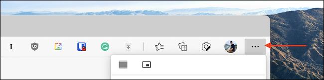 انقر فوق زر القائمة ثلاثي النقاط من شريط أدوات Microsoft Edge.