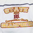CFpromo and custom sublimated tackle twill strikes again for the Roosevelt Rough Rider State Champion Cheer Team!