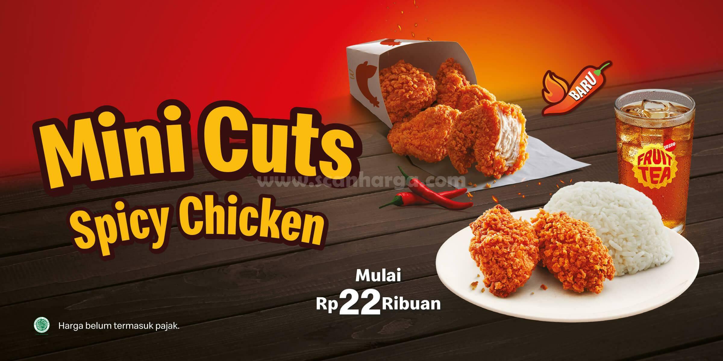 McDonalds Mini Cuts Spicy Chicken! Promo Harga Spesial mulai dari 22Ribu-an