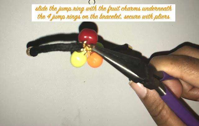 DIY Fruit Charm Bracelet steps