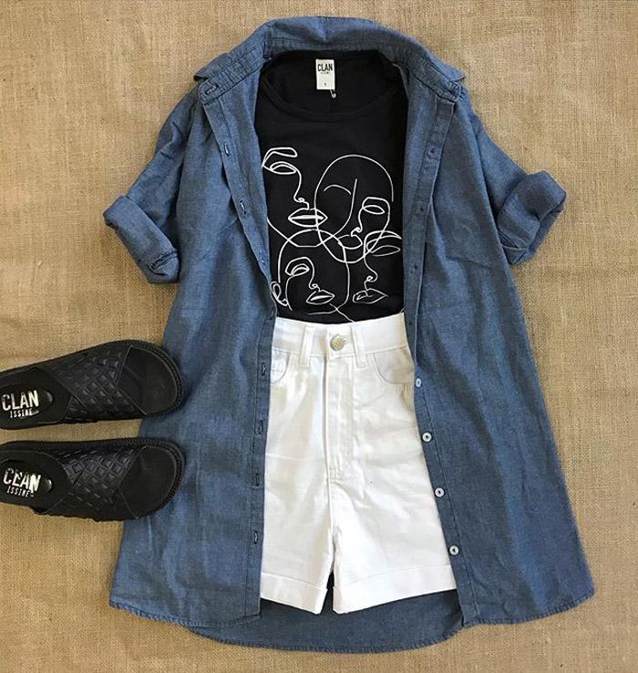 Camisola, maxicamisa de jean moda verano 2020.